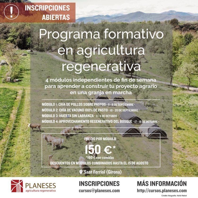 Programa formativo en Agricultura Regenerativa